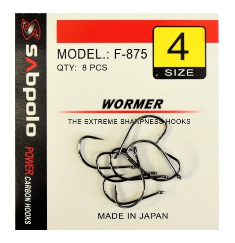 Sabpolo Wormer Hooks 8 Per Pack